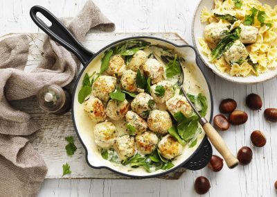 Chestnuts and Chicken Meatballs